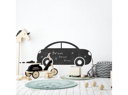 Nálepka na zeď  kreslící tabule autíčko