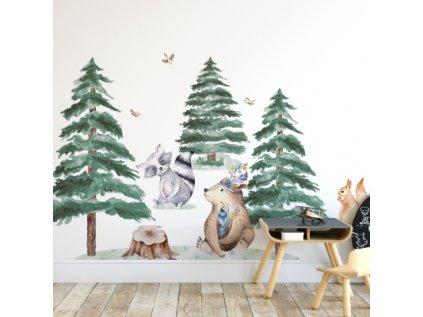 Nálepka na zeď zvířátka s medvědem