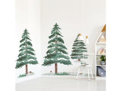 Nálepka na zeď zimní stromky