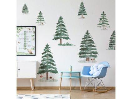 Designová samolepka zimní les