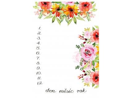 Milníková deka květy