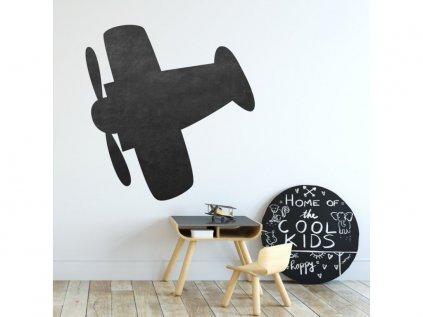 Nálepka na zeď tabule letadlo