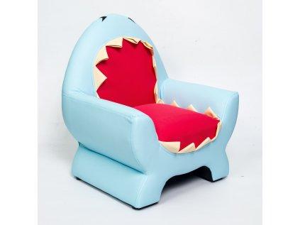 Hravé dětské křesílko ve žraločím designu dodá dětskému pokojíku na originalitě