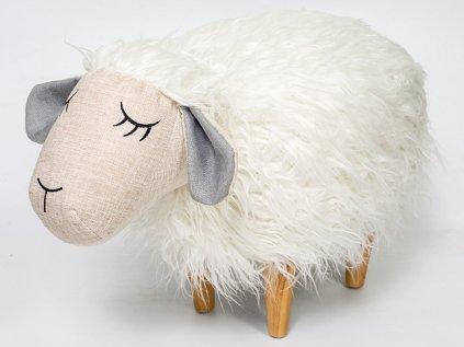Designový taburetek ovečka najde svoje místo v dětských pokojích u stolečků či postýlek jako doplněk určený k sezení i ke hraní.