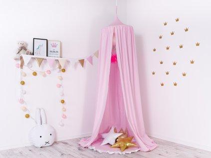 Baldachýn, kouzelný designový doplněk dětského pokojíku pro malé princezny, bezpečný koutek pro nerušený odpočinek.