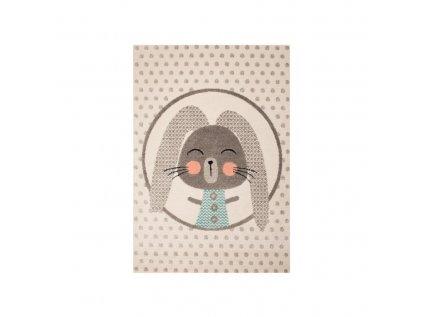 Koberec do dětského pokoje - Šedý králík (dětský kusový koberec)