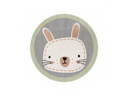 Dětský kulatý kusový koberec - Zajíc, zútulní každý dětský pokojíček