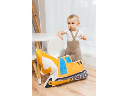 bagr v dětském pokoji