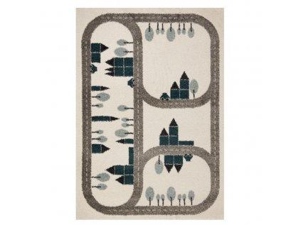 Dětský kusový koberec s cestou je skvělým a zároveň ke hře stvořeným doplňkem