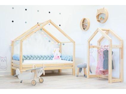 Detska postel domecek s volitelnou zabranou elisdesign
