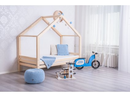 postel domeček s volitelnou zábranou