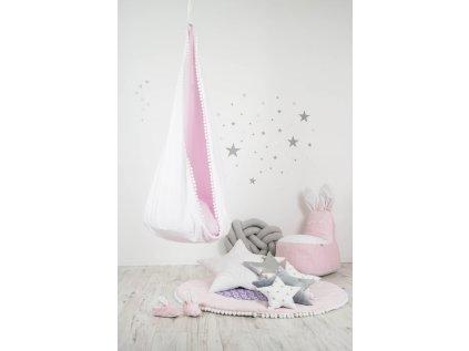 závěsný houpací vak růžový andílek