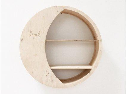 dřevěná polička měsíček