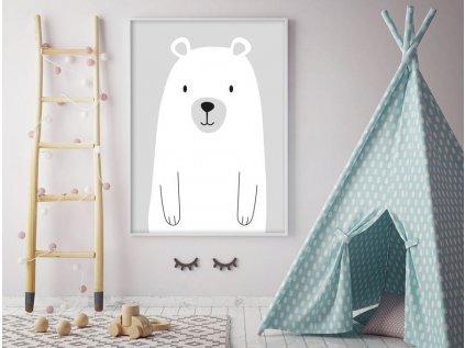 plakát velký medvěd šedý