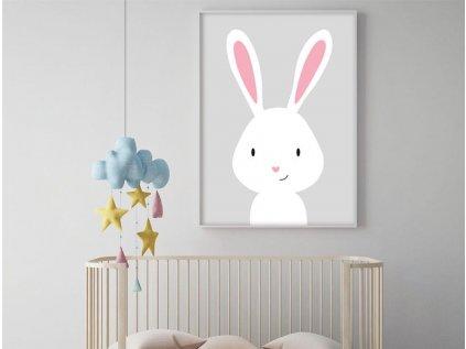 plakát pro děti králíček