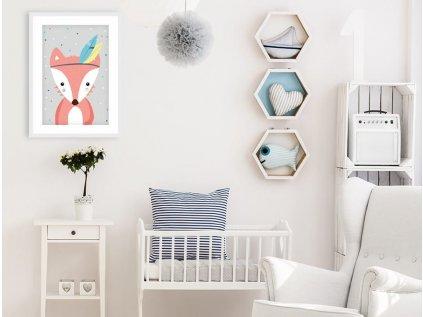 plakát liška dětský pokoj