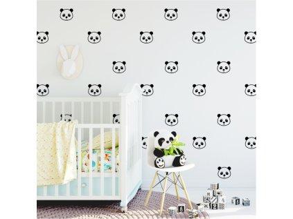 samolepky medvídci panda