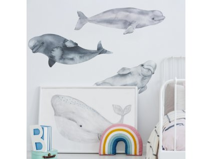 samolepky 3 delfíni