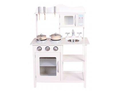 Elegantní dřevěná dětská kuchyňka v bílé barvě