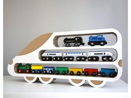 Polička lokomotiva karton
