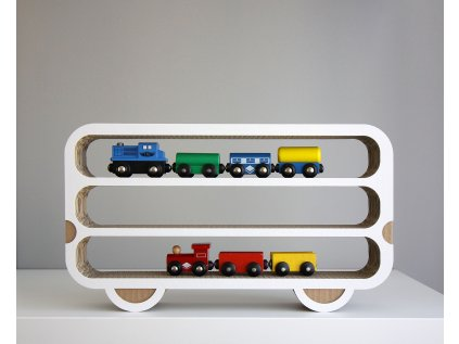 Polička vagónek z kartonu