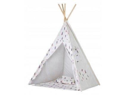 Dětský teepee stan - Růžový les je určen především pro holčičky nejen do dětského pokojíčku