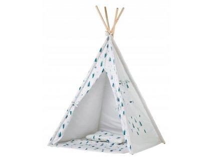 V dětském teepee stanu - V lese zažijí děti spoustu zábavy a dobrodružství