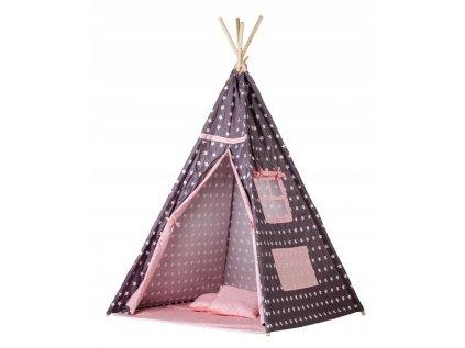 Krásný dětský teepee (týpí) stan - Fialové potěšení v krásných holčičích barvách potěší každou malou princeznu