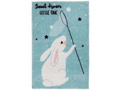 Moderní dětský koberec - Bílý králíček si zamilují všechny děti