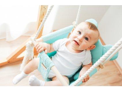 Dětská houpačka Velvet Swing s opěrátkem