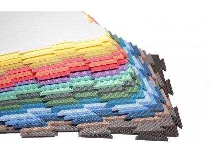 Pěnová puzzle podložka barevná - nízká v krásných barvách
