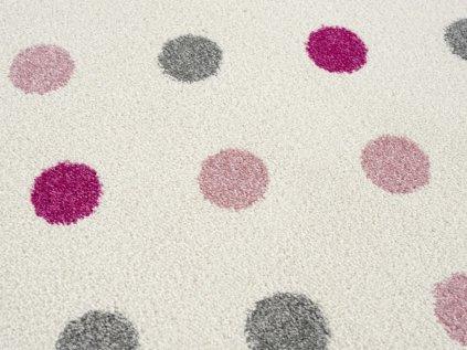 dětský koberec krémový/modrý-stříbrnošedý