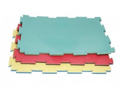 Barevná pěnová puzzle podložka vysoká s nadstandardní výškou 2 cm