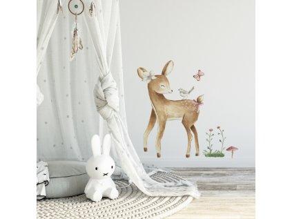 nálepka na zeď do dětského pokoje koloušek