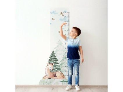Samolepka metr srnečka dětský pokoj