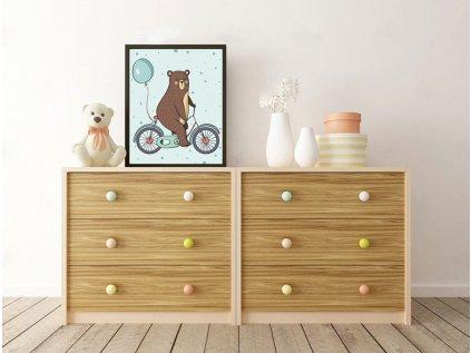 Plakát medvídek kolo