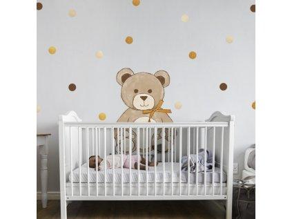 nálepka do dětského pokoje medvídek