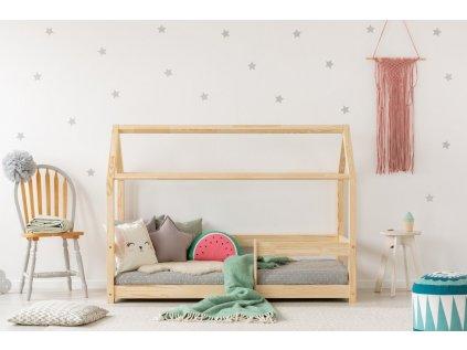 dětská postel z borovice v oblíbeném designu, domeček pro klidný spánek