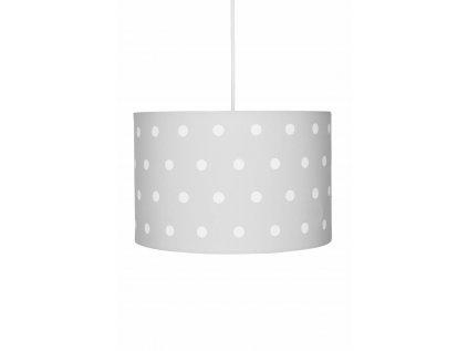 Závěsné svítidlo v neutrální šedé barvě, dětský lustr - Šedý s puntíky, do každého moderního pokoje