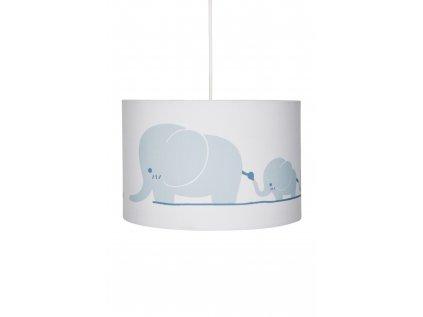 Originální a stylové dětské závěsné světlo, dětský lustr - Sloní rodinka v neutrálních barvách