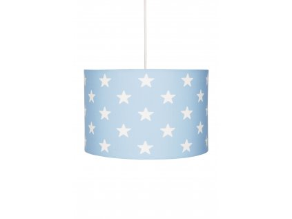Krásné a moderní dětské závěsné stropní světlo, lustr - Modrý s hvězdami, rozzáří každý dětský pokoj