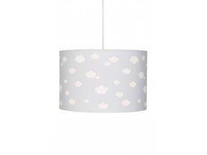 Krásný a moderní dětské stropní světlo, lustr - Šedý s obláčky je vhodní jak pro holčičky, tak kluky