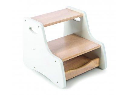 Stolička s úložným prostorem bílá