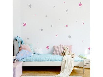 interiérové samolepky - hvězdičky