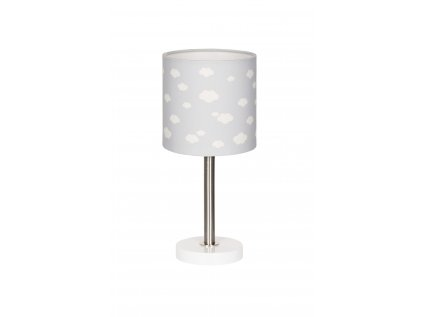 Velice moderní obláčková stolní lampička - Šedá s obláčky se stane ozdobou každého dětského pokojíčku