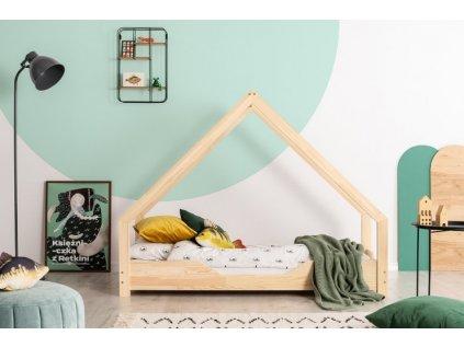 Kvalitní a originální dětská postel domeček s výřezem se stane ozdobou každého dětského pokoje