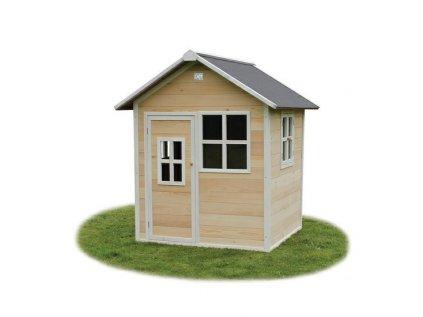 Malý dětský dřevěný zahradní domeček v přírodním provedení