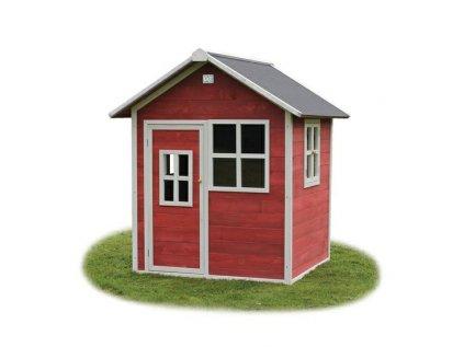 Červený dětský zahradní domeček z certifikovaného cedrového dřeva