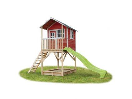 Dětský zahradní domeček na nožkách je vyrobený z kvalitního a odolného cedrového dřeva