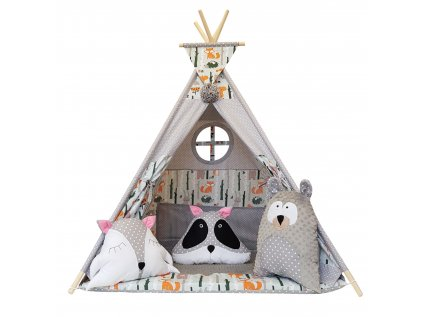 Kvalitní teepee stan, soukromý prostor pro hry vašich dětí i jejich kamarádů.